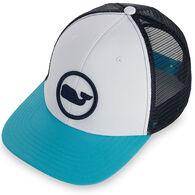 Vineyard Vines Men's Whale Dot Performance Trucker Hat