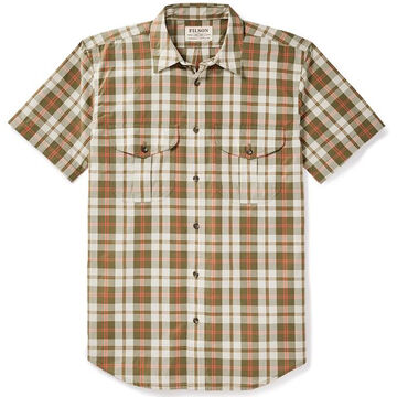 Filson Mens Feather Cloth Short-Sleeve Shirt