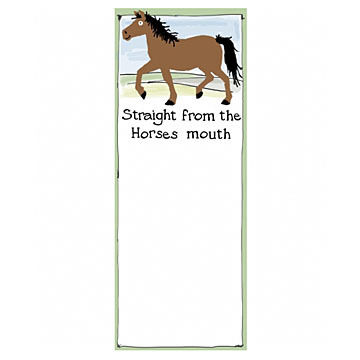 Hatley Straight From the Horses Mouth Magnetic List Notepad