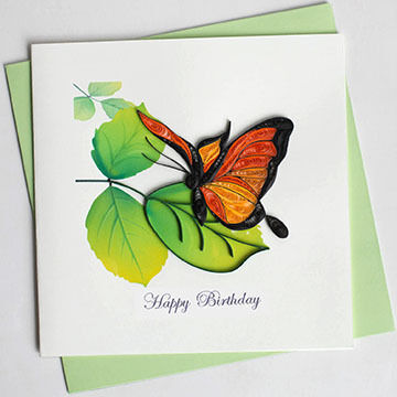 Quilling Card Butterfly Birthday Card