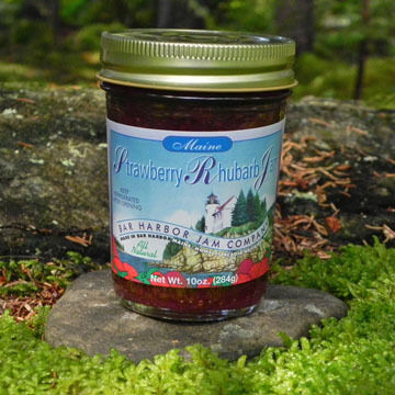 Bar Harbor Jam Company Strawberry-Rhubarb Jam, 10 oz.