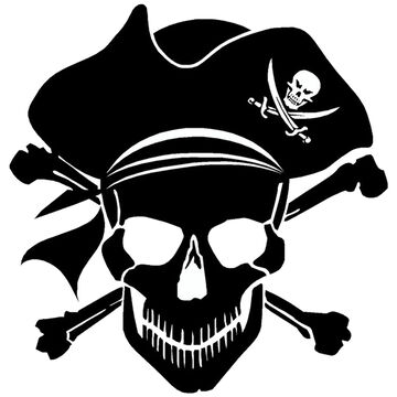 Sticker Cabana Pirate Skull Sticker
