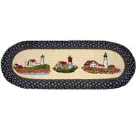Capitol Earth Three Lighthouse Runner Braided Rug