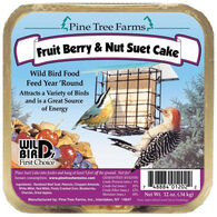Pine Tree Farms Fruit Berry & Nut Suet Cake Bird Food