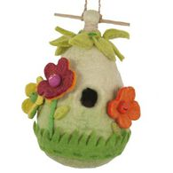Wild Woolies Friendly Flower Hand-Felted Birdhouse