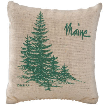 "Maine Balsam Fir 4"" x 4"" Balsam Tree Balsam Pillow"