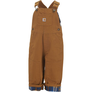 Carhartt Infant/Toddler Boys Washed Canvas Flannel-Lined Bib Overall