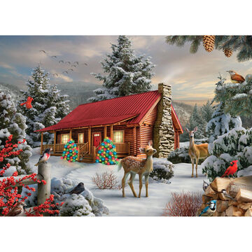 LPG Greetings Holiday Cabin Boxed Christmas Cards