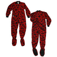 Lazy One Women's Classic Moose Footeez Pajama