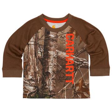 Carhartt Infant/Toddler Boys' Carhartt Camo Raglan Long-Sleeve T-Shirt
