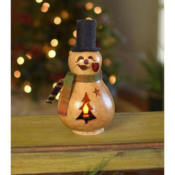 Meadowbrooke Gourds Flurry Miniature Snowman Gourd