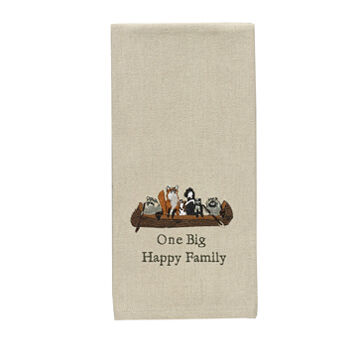 Park Designs One Big Happy Family Decorative Dish Towel