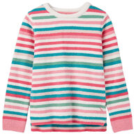 Joules Girl's Seaham Chenille Long-Sleeve Sweater Top