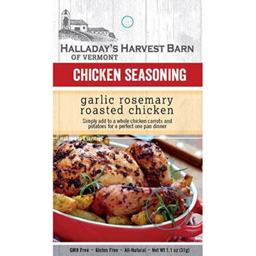 Halladay's Harvest Barn Garlic Rosemary Roasted Chicken Seasoning
