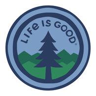 "Life is Good LIG Pine 4"" Circle Sticker"