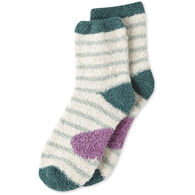 Life is Good Women's Heart Stripes Snuggle Crew Sock