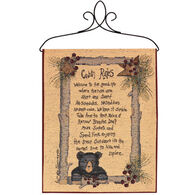 Manual Woodworkers & Weavers Cabin Rules Tapestry Bannerette