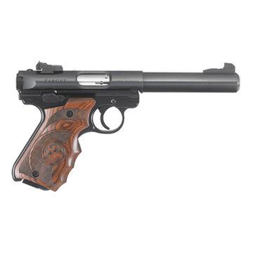 Ruger Mark IV Target Blued Wood Laminate 22 LR 5.5 10-Round Pistol