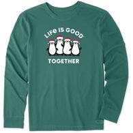 Life is Good Men's Life is Good Together Penguins Crusher Long-Sleeve Sleep T-Shirt