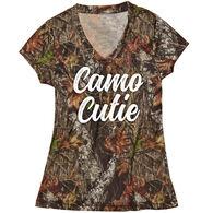 Wilderness Dreams Women's Camo Cutie V-Neck T-Shirt