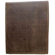 Deerfield Leathers Men's Crazy Horse Rustic Bi-Fold 5-Slot RFID Leather Wallet