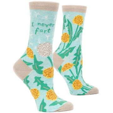 Blue Q Womens I Never Fart Crew Sock