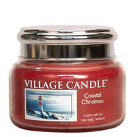 Village Candle Small Glass Jar Candle - Coastal Christmas