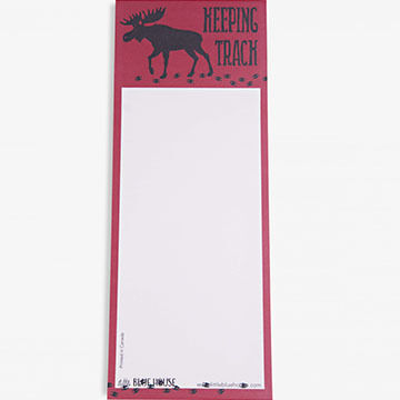 Hatley Little Blue House Keeping Track Magnetic List Notepad