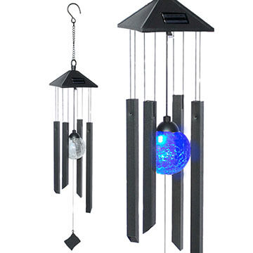 Red Carpet Studios Black Solar Wind Chime