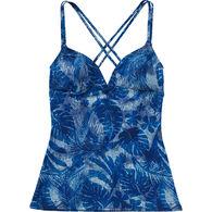 TYR Sport Women's Brooke Tank Maui Print Performance Swim Top