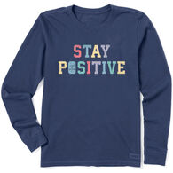 Life is Good Women's Stay Positive Crusher-Lite Long-Sleeve T-Shirt