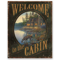 Wild Wings Welcome To The Cabin Tin Sign