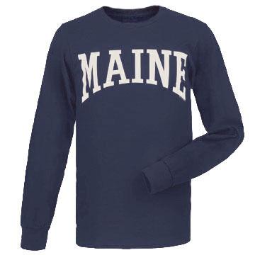 Cape Cod Textile Mens Big & Tall Maine Arch Design Long-Sleeve T-Shirt