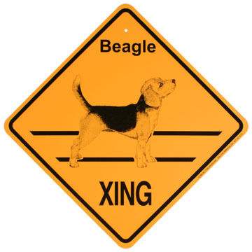 KC Creations Beagle XING Sign