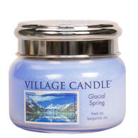 Village Candle Small Glass Jar Candle - Glacial Spring