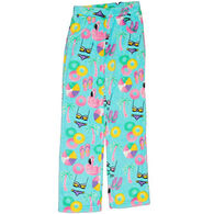 Candy Pink Girls' Beach Fun Fleece Pajama Pant