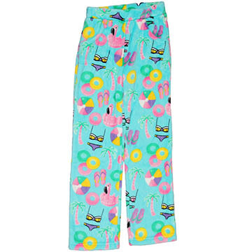 Candy Pink Girls Beach Fun Fleece Pajama Pant