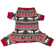Lazy One Moose Fair Isle Dog Flapjack Onesie
