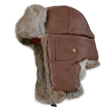 Mad Bomber Men's Leather Fur Trim Bomber Hat