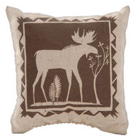 "Maine Balsam Fir 4"" x 4"" Indian Moose with Tree Balsam Pillow"