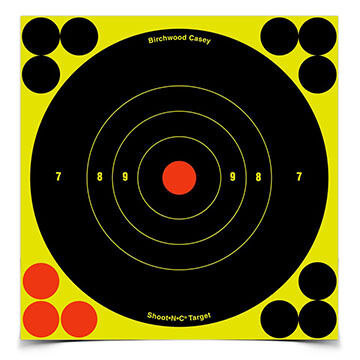 "Birchwood Casey Shoot-N-C 6"" Bull's-eye Self-Adhesive Target - 12 or 60 Pk."