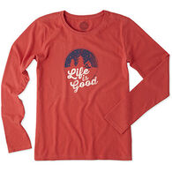 Life is Good Women's Snow Cabin Crusher Long-Sleeve Shirt