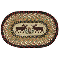 Capitol Earth Braided Oval Moose Pinecone Swatch Rug