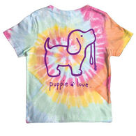 Puppie Love Girl's Tie Dye #2 Pup Short-Sleeve T-Shirt