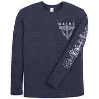 The Duck Company Men's Maine Nautical Long-Sleeve T-Shirt