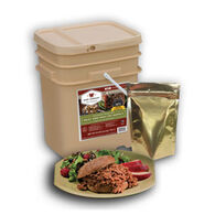 Wise 60 Serving Gourmet Freeze Dried Meat + 20 Serving Long-Term Rice Grab & Go Food Kit