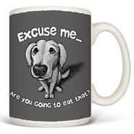 Earth Sun Moon Excuse Me Dog Mug