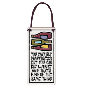 "Spooner Creek ""Can Buy Wine"" Wine Tag"