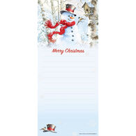 Pumpernickel Press Birchwood Snowman Magnetic List Notepad