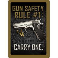 Rivers Edge Gun Safety Embossed Tin Sign